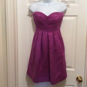Rebecca Taylor Dress 4 Purple Animal Stripe Pocket